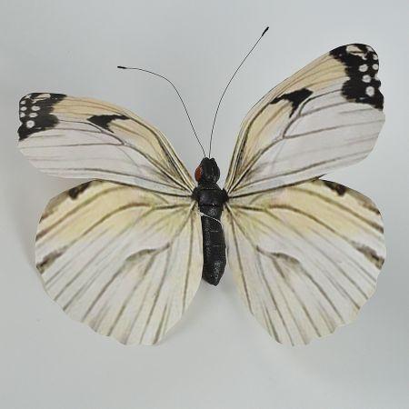 XL Διακοσμητική πεταλούδα Λευκή 50cm