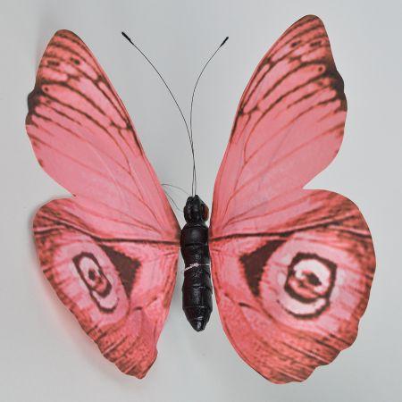 XL Διακοσμητική πεταλούδα Ροζ 50cm