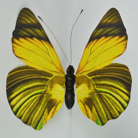 XL Διακοσμητική πεταλούδα Κίτρινη 50cm