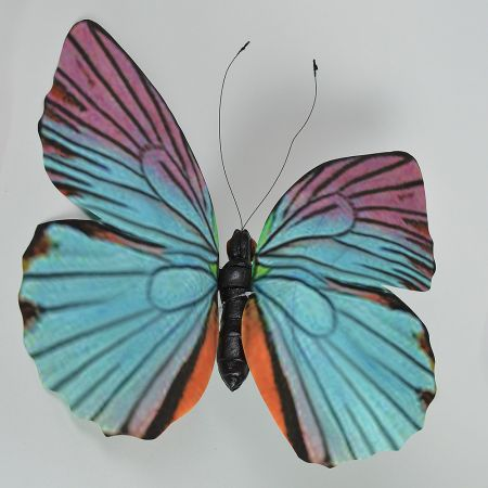 Διακοσμητική πεταλούδα Μπλε - Ροζ 50cm