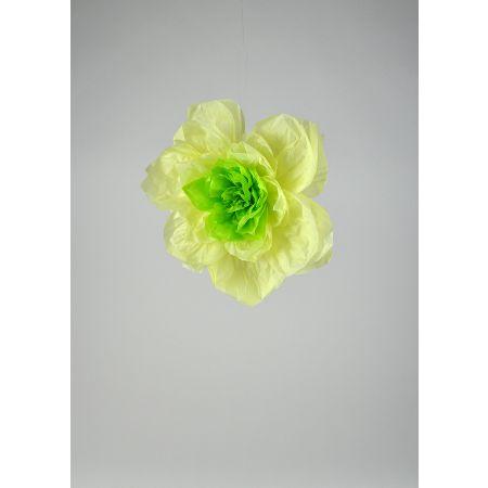 Διακοσμητικό χάρτινο άνθος λουλουδιού, Πράσινο 35cm