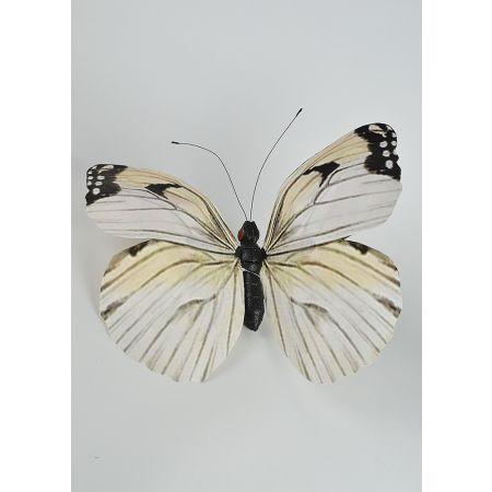 Διακοσμητική πεταλούδα Λευκή 50cm
