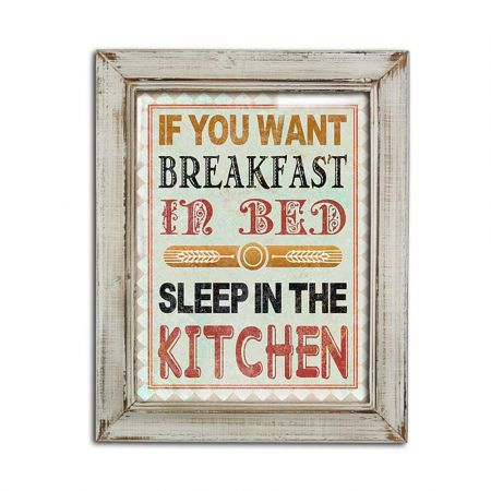 Διακοσμητικός vintage πίνακας Kitchen 39x48cm