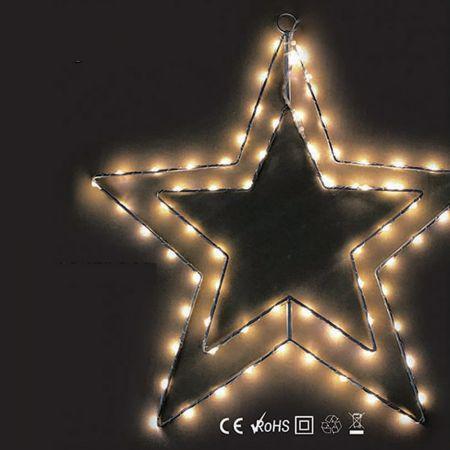 Φωτιζόμενο αστέρι 74microLED IP44 περιστρεφόμενο 38cm