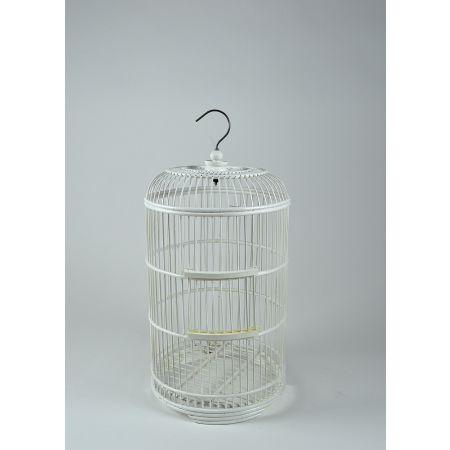 Διακοσμητικό κλουβί bamboo Λευκό 60cm