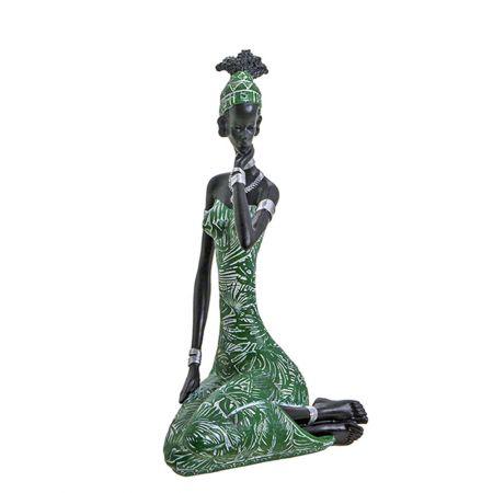 Επιτραπέζιο διακοσμητικό φιγούρα Αφρικάνας 13x28cm