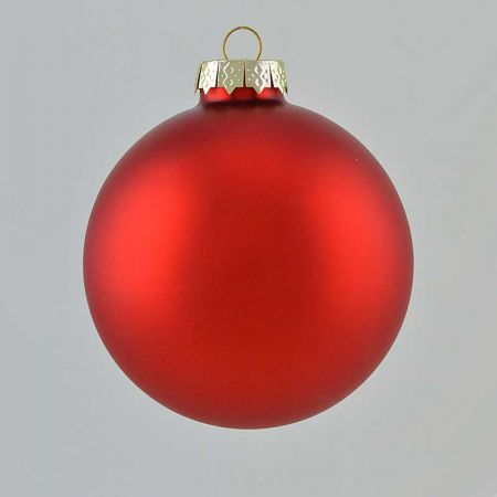 Χριστουγεννιάτικη μπάλα γυάλινη Κόκκινη ματ 10cm