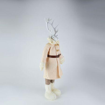 Διακοσμητικός τάρανδος με παλτό 77cm