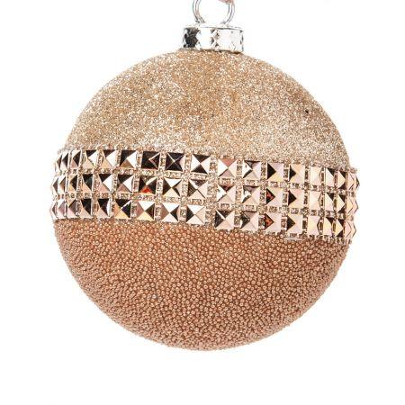 Χριστουγεννιάτικη μπάλα Σαμπανιζέ με glitter 20cm