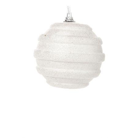 Χριστουγεννιάτικη μπάλα Λευκή 8cm