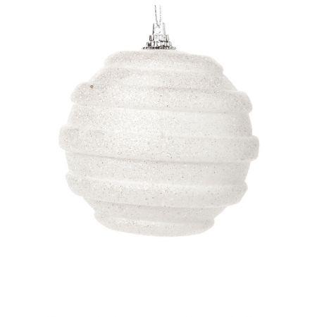 Χριστουγεννιάτικη μπάλα Λευκή 10cm
