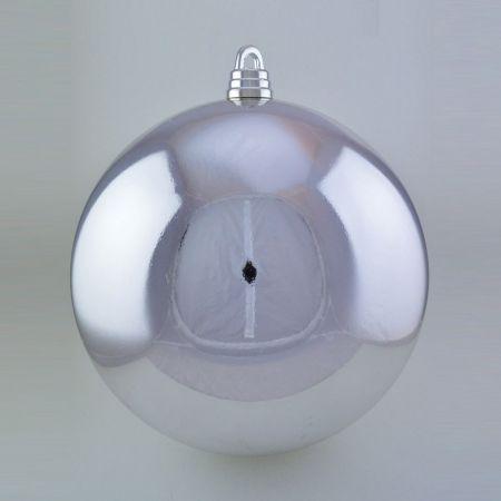 XL Μπάλα Χριστουγεννιάτικη Ασημί γυαλιστερή 40cm