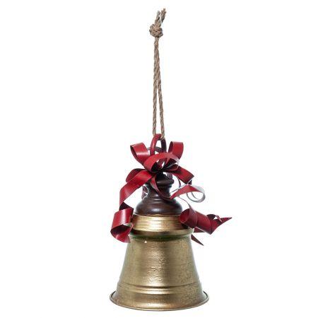 Χριστουγεννιάτικη καμπάνα μεταλλική Χρυσή 30cm