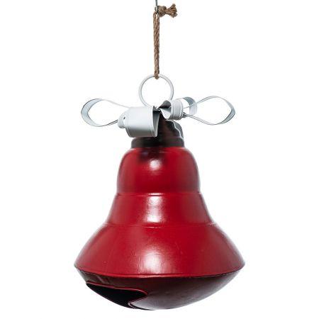 XL Χριστουγεννιάτικη καμπάνα μεταλλική Κόκκινη 60cm