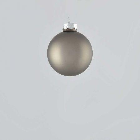 Χριστουγεννιάτικη μπάλα γυάλινη Ανθρακί ματ 6cm