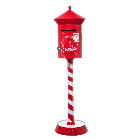 Χριστουγεννιάτικο μεταλλικό γραμματοκιβώτιο - Letters to Santa Κόκκινο 35x35x122cm