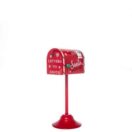 Χριστουγεννιάτικο μεταλλικό γραμματοκιβώτιο - Letters to Santa Κόκκινο 16x12,5x32cm