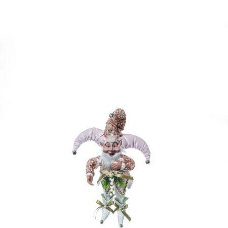 Χριστουγεννιάτικο ξωτικό - αρλεκίνος Ροζ 40cm