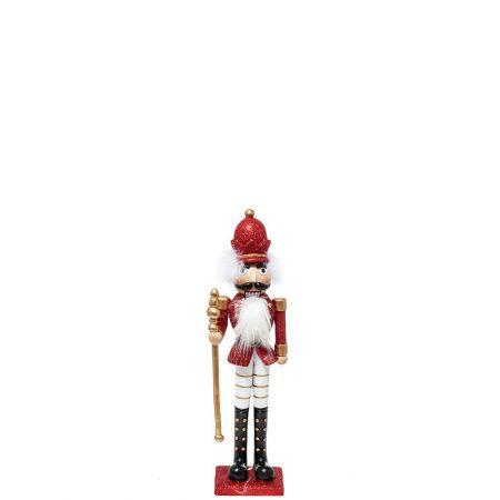 Κεραμικός Καρυοθραύστης, Μολυβένιος στρατιώτης Λευκός - Κόκκινος 11x8,5x40cm