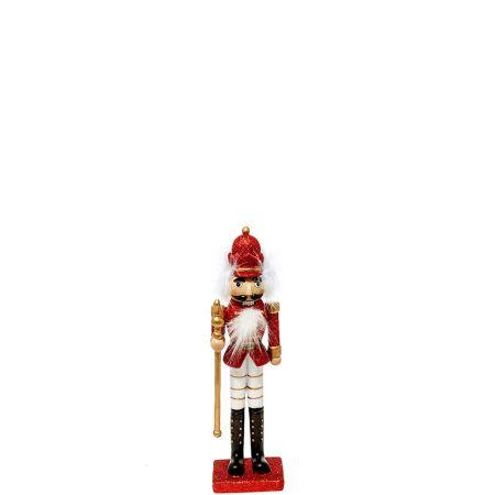 Κεραμικός Καρυοθραύστης, Μολυβένιος στρατιώτης Λευκός - Κόκκινος 8x6,5x29cm