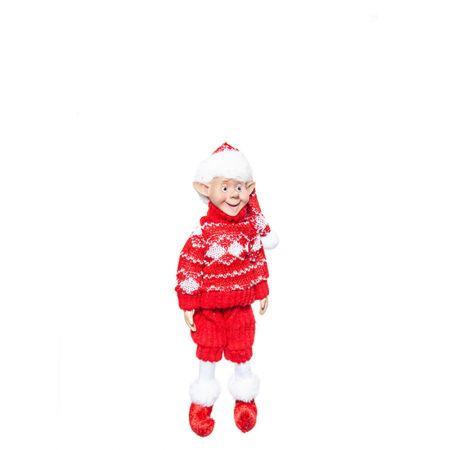 Χριστουγεννιάτικο ξωτικό - αρλεκίνος Κόκκινο 25cm