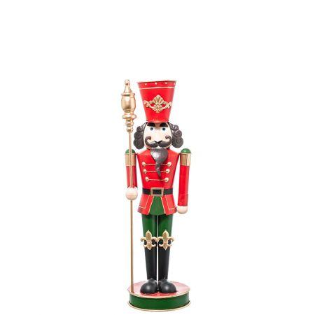 Μεταλλικός Καρυοθραύστης Κόκκινος - Πράσινος 29x23x94cm