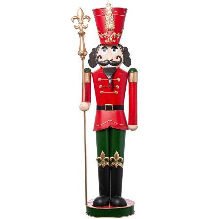 Μεταλλικός Καρυοθραύστης Κόκκινος - Πράσινος, 54x36x184cm