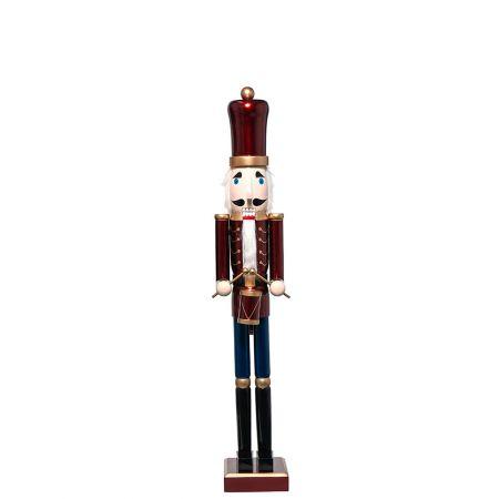 Ξύλινος Καρυοθραύστης, Μολυβένιος στρατιώτης Κόκκινος 22x17x122cm