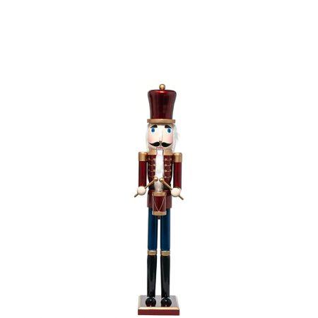 Ξύλινος Καρυοθραύστης, Μολυβένιος στρατιώτης Κόκκινος 18x15x91cm