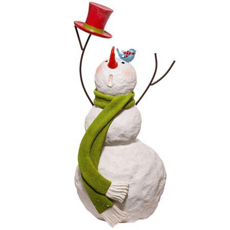 Διακοσμητικός χιονάνθρωπος Fiberglass 116x50cm