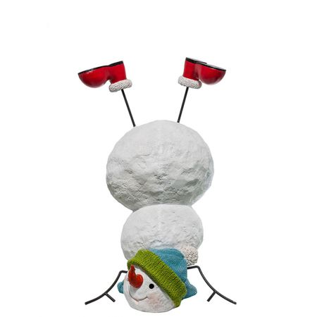 Διακοσμητικός χιονάνθρωπος Fiberglass 97x43cm