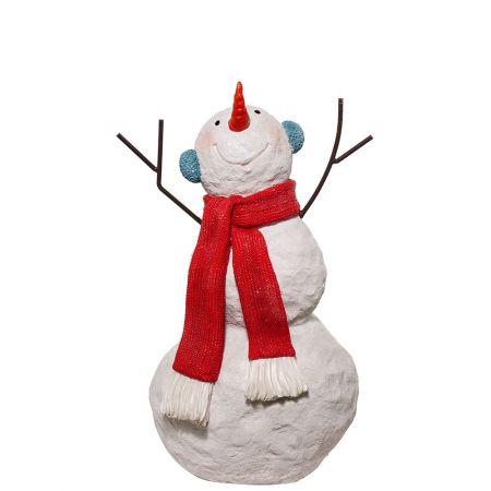 Διακοσμητικός χιονάνθρωπος Fiberglass 88x42cm