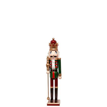 Ξύλινος Καρυοθραύστης, Μολυβένιος στρατιώτης Πράσινος 13x11x61cm