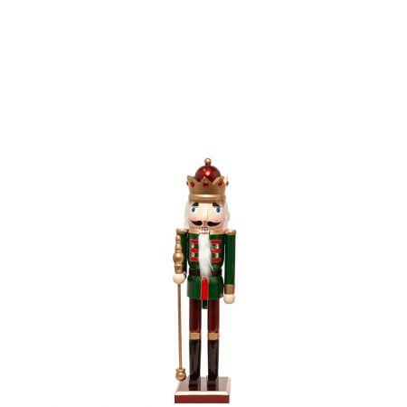 Ξύλινος Καρυοθραύστης, Μολυβένιος στρατιώτης Πράσινος 11x10x51cm