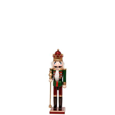 Ξύλινος Καρυοθραύστης, Μολυβένιος στρατιώτης Πράσινος 9x8x38cm