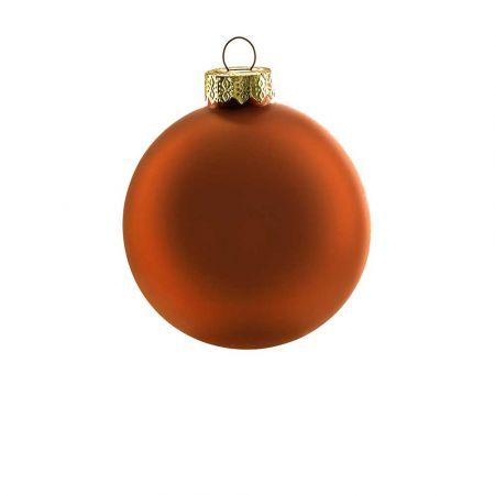Χριστουγεννιάτικη μπάλα γυάλινη Χάλκινη ματ 8cm
