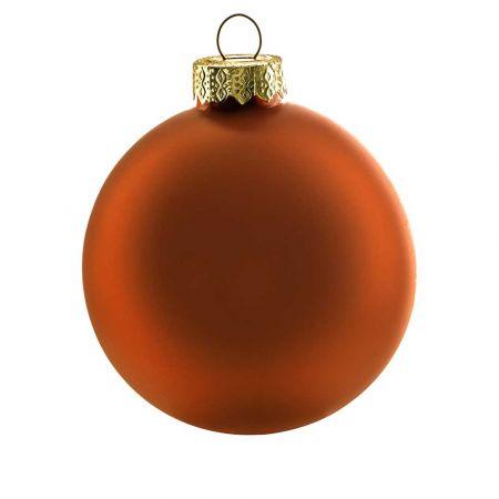 Χριστουγεννιάτικη μπάλα γυάλινη Χάλκινη ματ 10cm