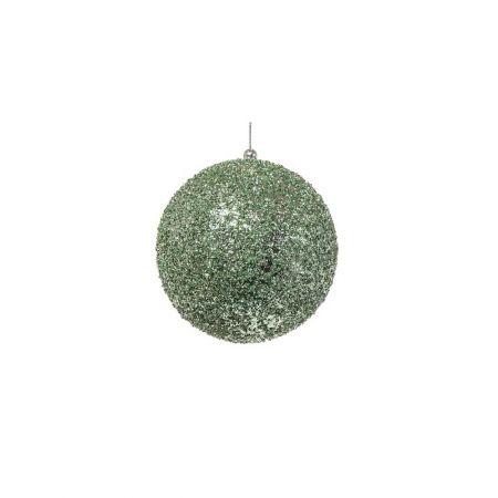 Διακοσμητική χριστουγεννιάτικη μπάλα Glitter Πράσινη 8cm