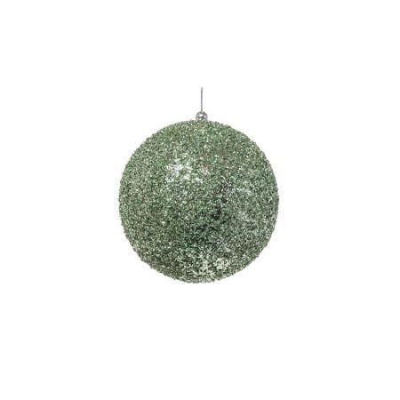 Διακοσμητική χριστουγεννιάτικη μπάλα Glitter Πράσινη 10cm
