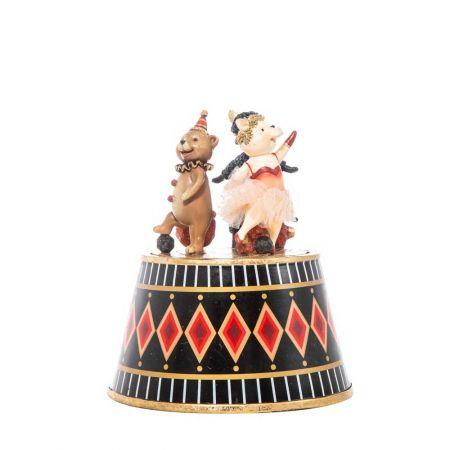 Επιτραπέζιο διακοσμητικό - Μουσικό κουτί με ζωάκια polyresin 22,5cm