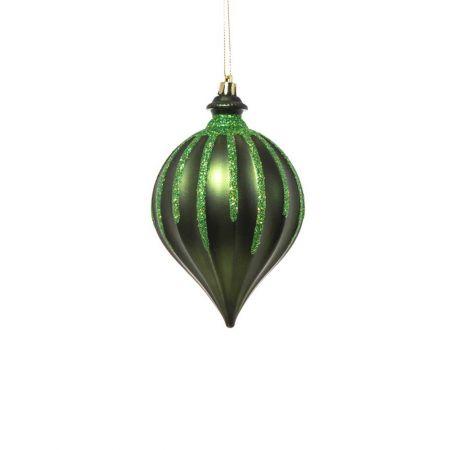 XL Χριστουγεννιάτικο στολίδι ανάγλυφο Πράσινο 15cm