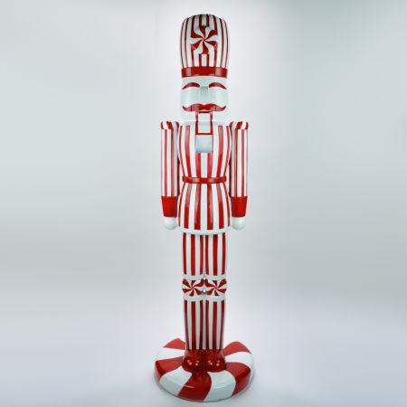 XL Διακοσμητικός καρυοθραύστης fiberglass Κόκκινος - Λευκός 163cm