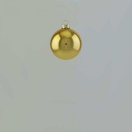 Χριστουγεννιάτικη μπάλα γυάλινη Χρυσή γυαλιστερή 4cm