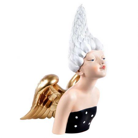 Επιτραπέζιο διακοσμητικό - Glamour Άγγελος polyresin 21x17x36cm