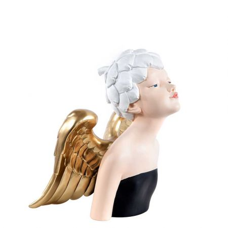 Επιτραπέζιο διακοσμητικό - Glamour Άγγελος polyresin 21x17x28cm