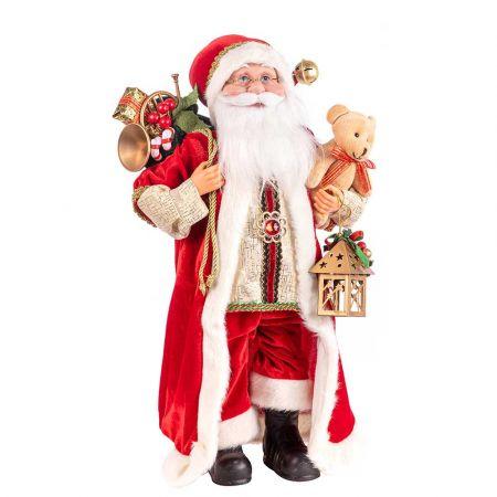 Διακοσμητικός Άγιος Βασίλης με δώρα 45,5cm
