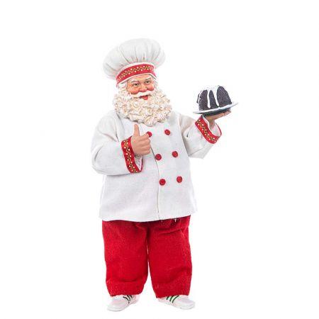 Διακοσμητικός Άγιος Βασίλης Ζαχαροπλάστης 28cm