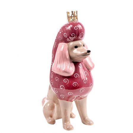 Επιτραπέζιο διακοσμητικό - Σκυλάκι με κορώνα κεραμικό 16,5x9x23cm