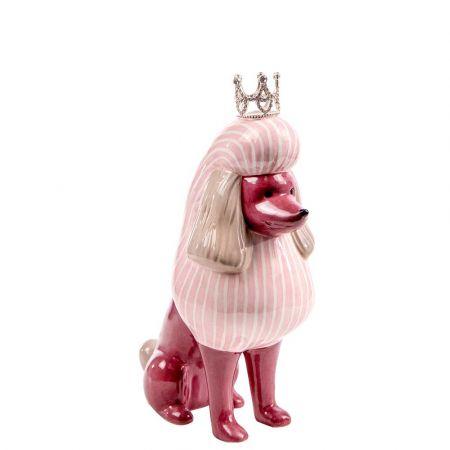 Επιτραπέζιο διακοσμητικό - Σκυλάκι με κορώνα κεραμικό 13x7x17,5cm
