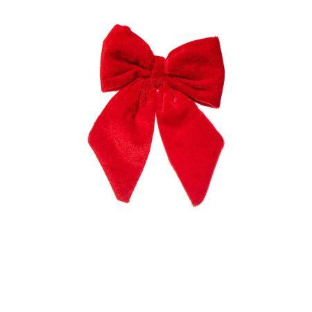 Βελούδινος Χριστουγεννιάτικος φιόγκος Κόκκινος 24x16cm
